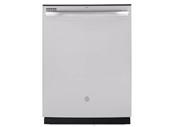 GE Fingerprint Resistant Top Control with Plastic Interior Dishwasher