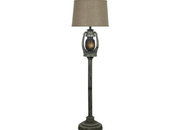 "Crestview ""Oil Lantern"" Floor Lamp"