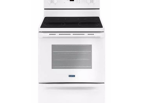 Maytag 5.3 cu. ft. Electric Range with Shatter-Resistant Cooktop in White
