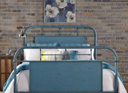 Liberty Vintage Metal Bed - Blue