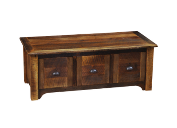 Fireside Lodge Barnwood Entry Bench with Three Drawers