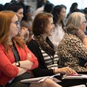 Audience members enjoying the talks.
