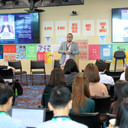 "Prof Jason giving his talk on ""Innovations in conceptualising digital disinformation."""