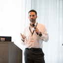 """James Rosie giving his talk on """"Behavioural Analytics: Bringing Together The Human & Data Sciences."""""""