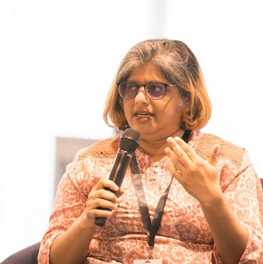 Prof Gayathry presenting her views.