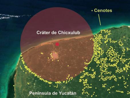 ¿El anillo de Cenotes, fue creado por el choque de un meteorito?
