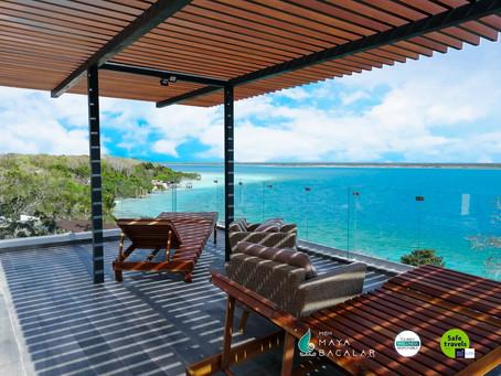 MBH Maya Bacalar el hotel que tiene una de las vistas privilegiadas de la Laguna de los Siete Colore