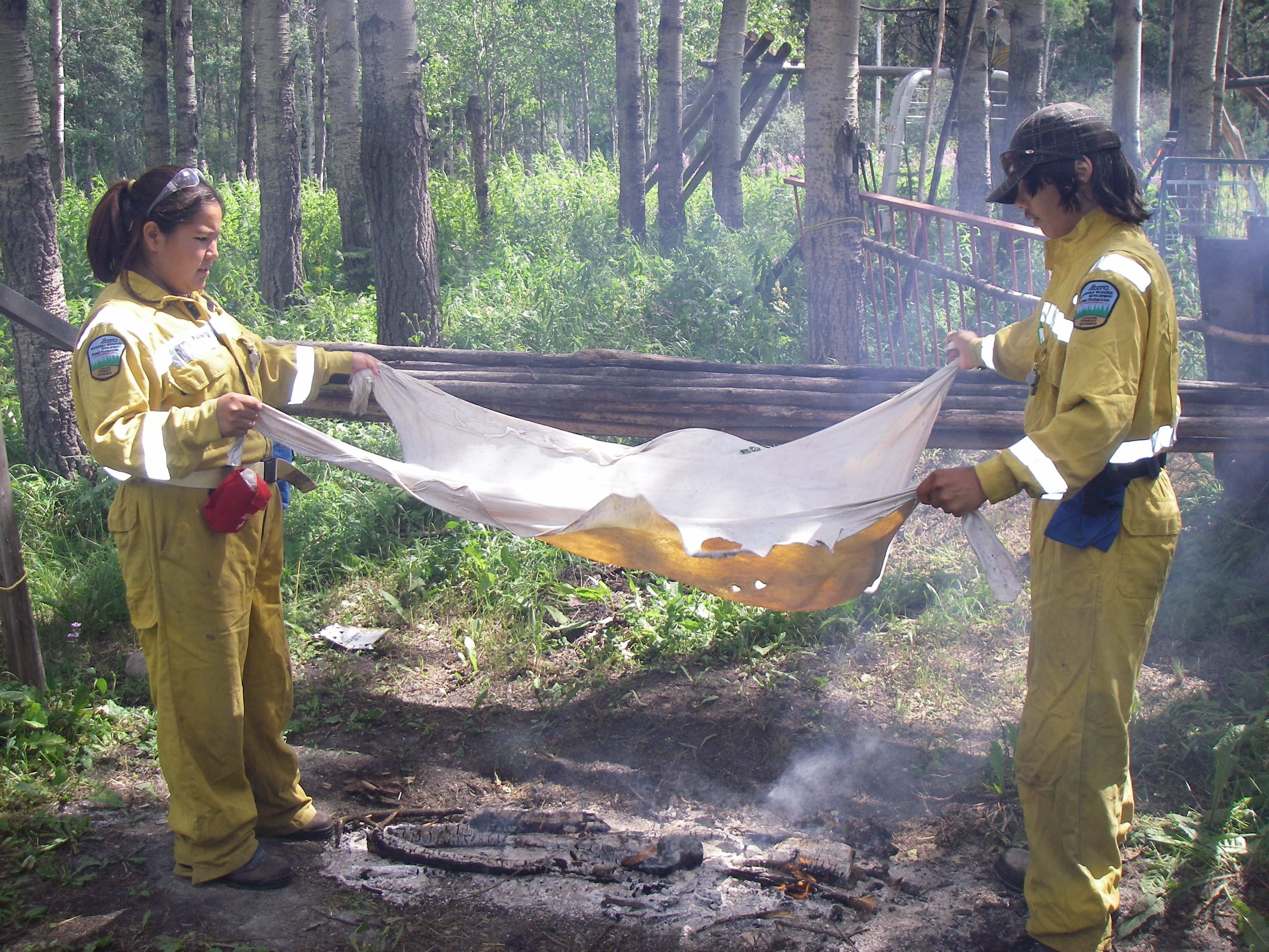 AJFR 2007 Drying Hide.JPG