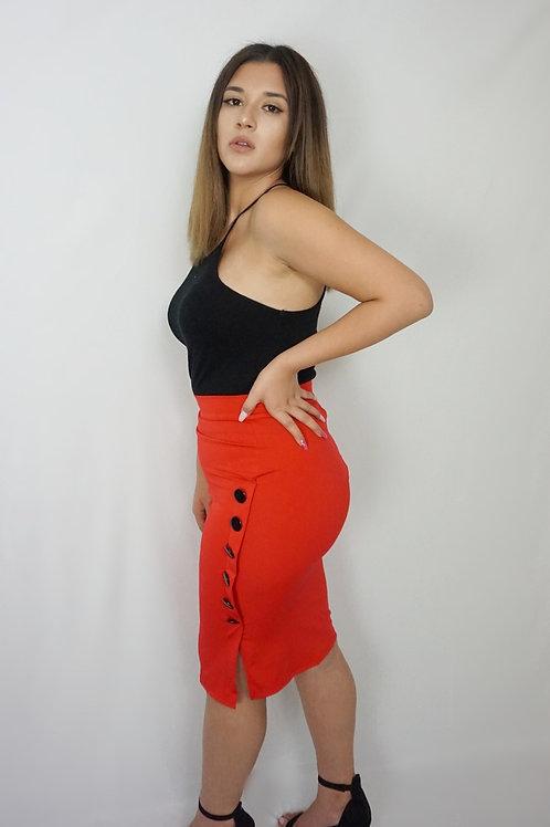 Button me down pencil skirt