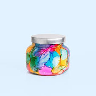Volcano Rainbow Watercolor Petite Jar by Capri Blue