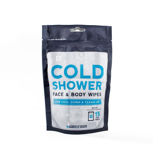 Cold Shower Face & Body Wipes by Duke Cannon