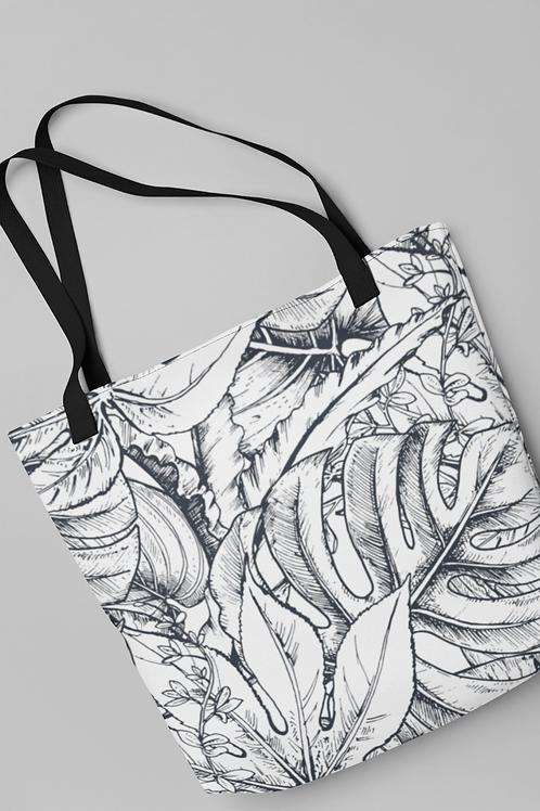 Bolsa Shop Bag - Folhas ilustradas 03