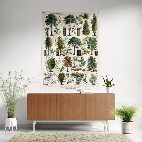 Bandeira de parede - Árvores e arbustos 2