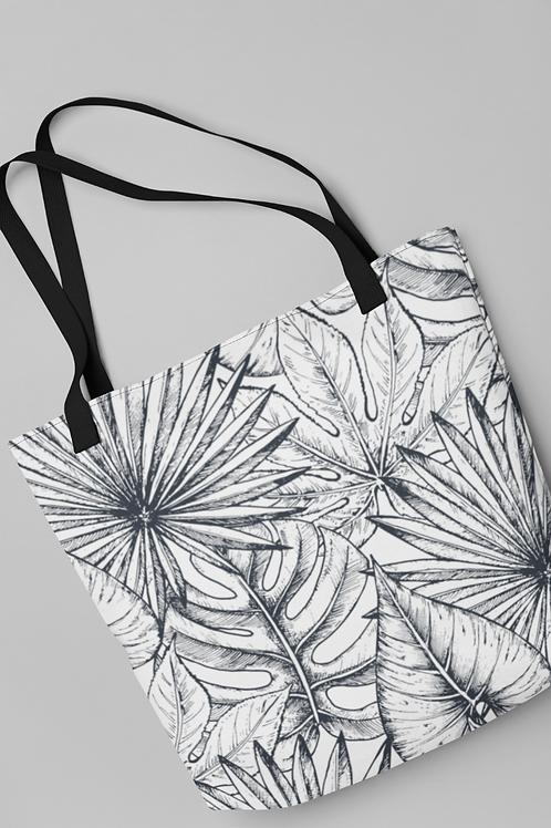 Bolsa Shop Bag - Folhas ilustradas 02