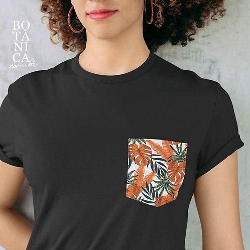 Camiseta Bolso -Monstera Laranja