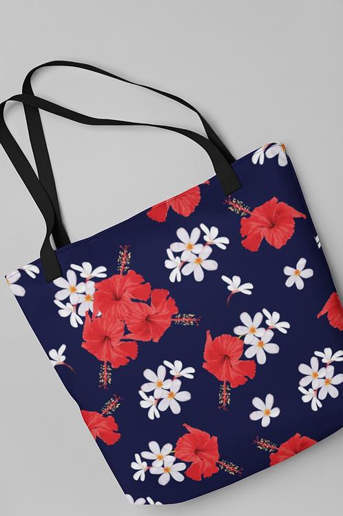 Bolsa Shop Bag - Jasmim e Hibisco