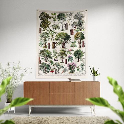 Bandeira de parede - Árvores e arbusto 1