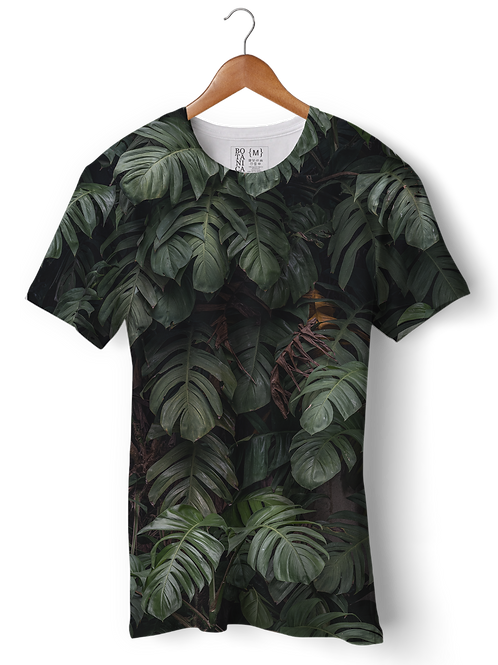 Camiseta Green-Fit - Parede Tropical