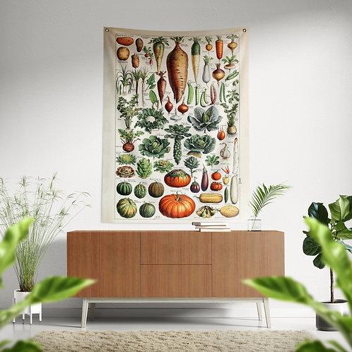 Bandeira de parede - Legumes