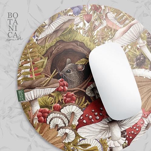 MousePad aveludado - FLORESTA DE COGUMELOS