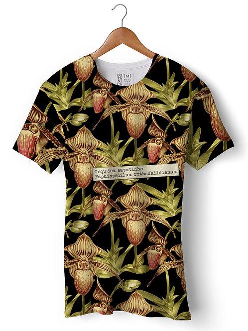 Camiseta Suplex - Orquídea Sapatinho - Paphiopedilum rothschildianum