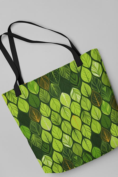 Bolsa Shop Bag - Folhas variegatas