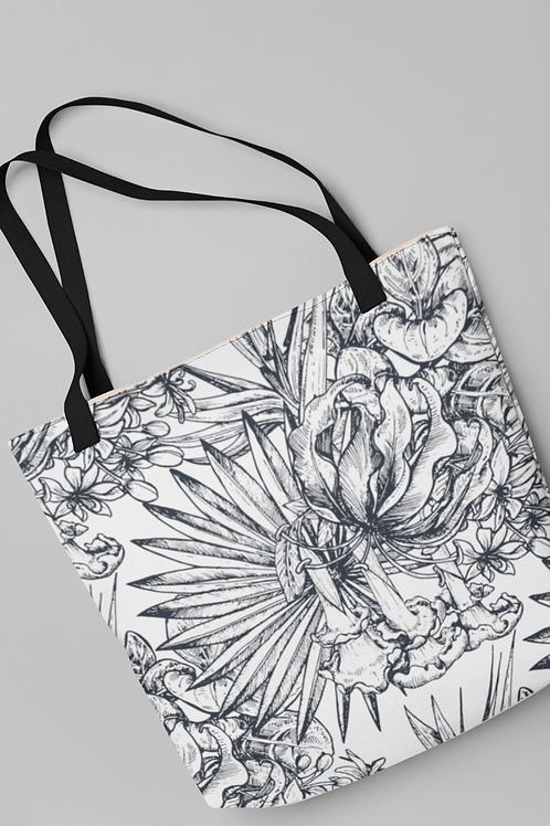 Bolsa Shop Bag - Folhas ilustradas 01