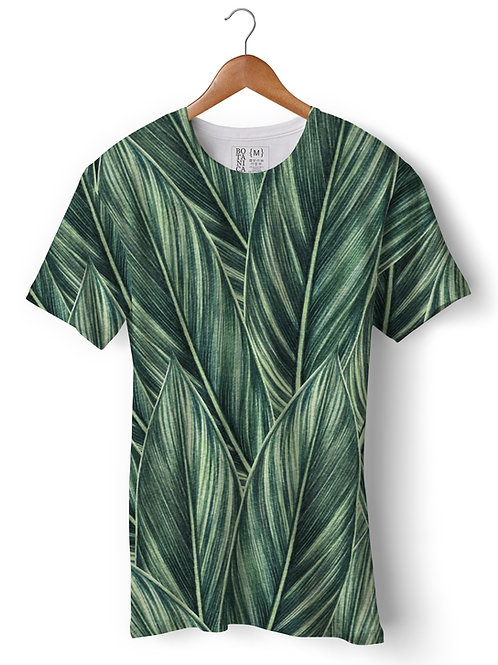 Camiseta Green-Fit - Folha de Strelitzia reginae