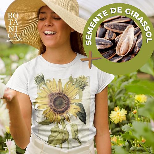 Camiseta Girassol + brinde sementes