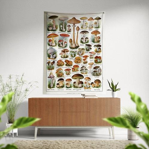 Bandeira de parede - Cogumelos