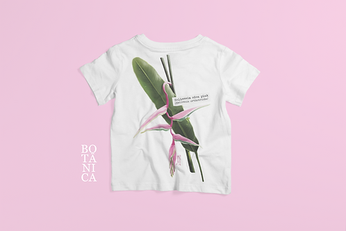 Camiseta Kids - HELICÔNIA EDEN PINK