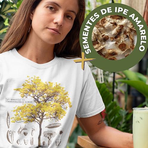 Camiseta Ipê amarelo + Brinde sementes