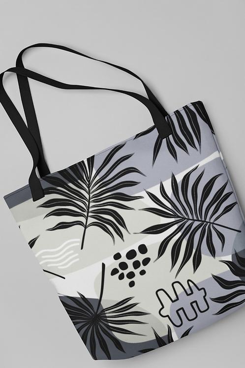 Bolsa Shop Bag - Folhas Pretas