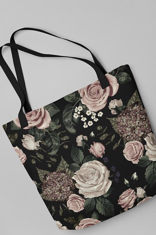 Bolsa Shop Bag - Rosas e Hortênsias