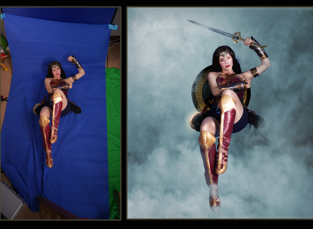 How we got from Green screen to finished product.