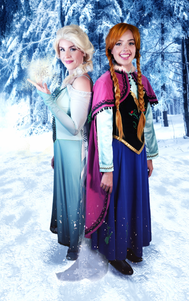 frozen 1- 2characters standing on ice..p