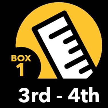 Summer Math Bundle 3rd-4th grade Box 1