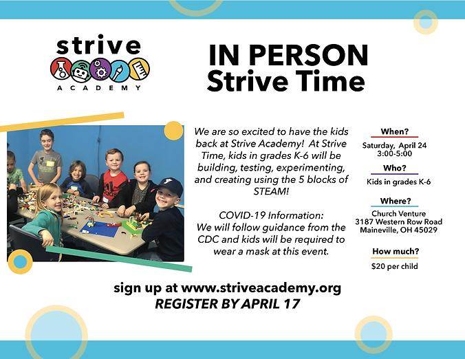 Stive Time April 24_Tinkerspace STEAM Sa