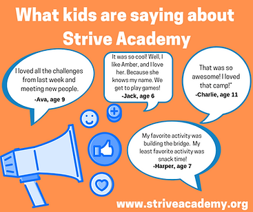 What kids are saying about Strive Academ