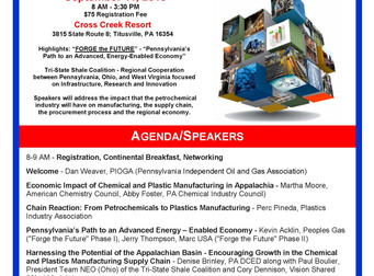 Manufacturing Summit - Growing the Petrochemical/Plastics Industry in Western PA