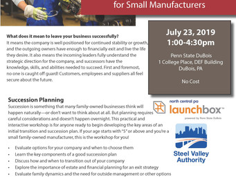NWIRC hosts free Succession Planning Workshop for Small Manufacturers
