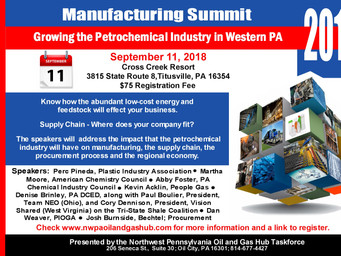 Northwest PA Manufacturing Summit