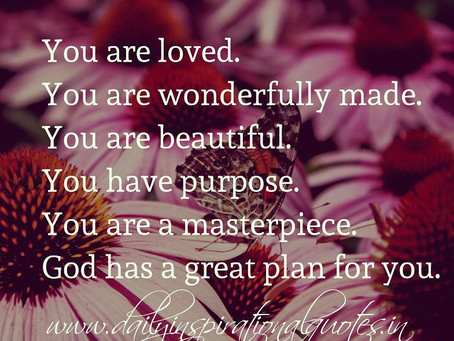 God created YOU with a Purpose!🌱🌷🌺🌸🏵️🌻🌼
