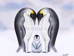 Commission - Penguin Family