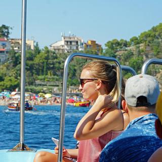 Boat trip around Taormina, Italy