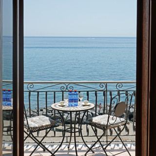 View from the hotel room, Giardini Naxos, Sicily, Italy