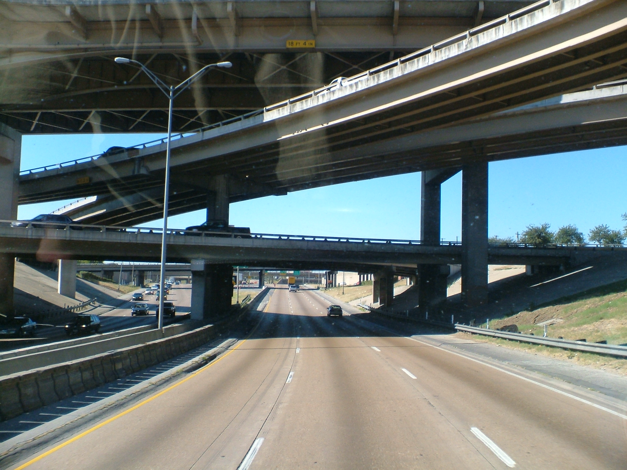 Typical concrete scenery of the North American highways