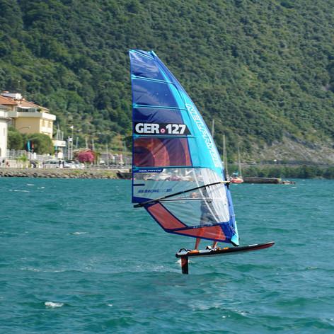 Flying Wind-surfer at Riva del Garda.JPG