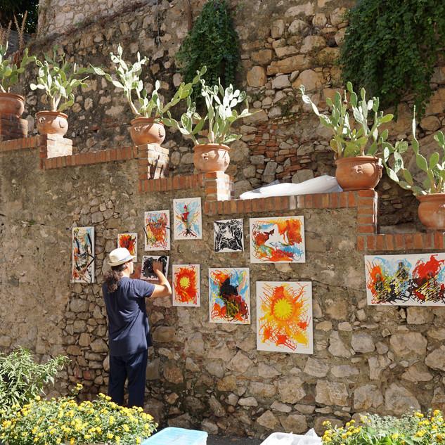 Taormina street, Sicily, Italy