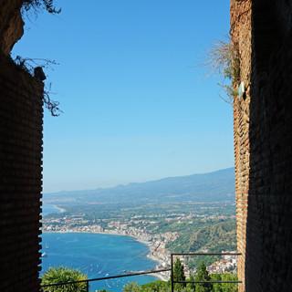 View from the Teatro Antico, Taormina, Italy